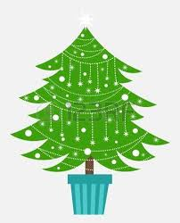 decorated christmas tree and presents royalty free cliparts