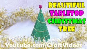 how to make tabletop christmas tree with craft paper christmas