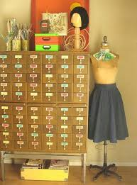 turn vintage library card catalogs into beautiful storage and