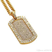 mens jewelry necklace images Wholesale fashion hip hop gold dog tag pendant necklaces mens jpg