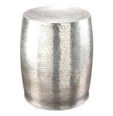 silver barrel side table side table barrel side tables antique silver hammered metal garden