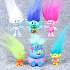 the magic doll 6 model ornaments trolls baby hair