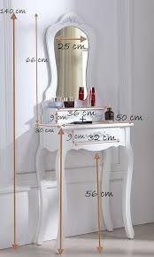 coiffeuse blanche si e avec miroir inclus superbe coiffeuse tabouret beige table de maquillage achat