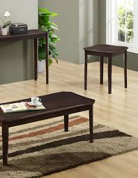 three piece table set brands home cappuccino cherry veneer three piece table set
