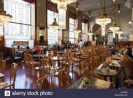 art nouveau interior restaurant in municipal house prague