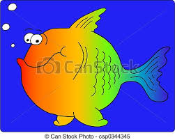 stock illustrations rainbow fish happy fat rainbow fish
