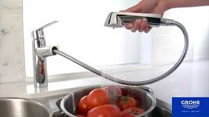 Grohe Alira Kitchen Faucet by Grohe 33330002 Eurodisk Pullout Spray Kitchen Faucet Youtube