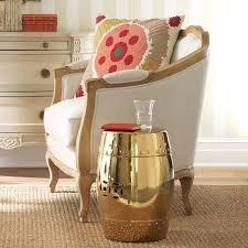 metallic home decor chinese garden stool in shiny gold metallic home decor decembers