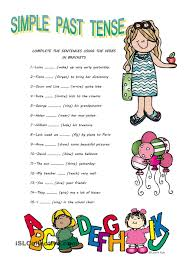 simple past tense esl worksheets of the day pinterest