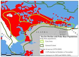 Barrow Alaska Map by Sea Ice Decline And Polar Bear Populations Nwf U0026 Naec Double