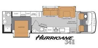 class a rv floor plans thor motor coach s new hurricane cranks up the excitement in class