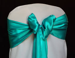turquoise chair sashes 100 pack 6 x 108 satin chair sash bow bows band tie wedding