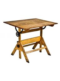 Wood Drafting Table C 1940 S Vintage Industrial Adjustable Boylston Factory Varnished