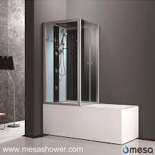 china 2017 new modern design acrylic glass corner tub shower combo