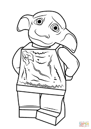 lego harry potter dobby coloring page free printable coloring pages