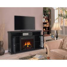 55 inch electric fireplace in black by yosemite home decor df