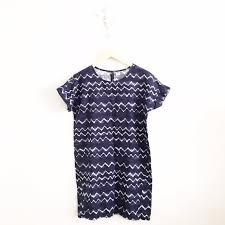 old navy old navy tie dye chevron linen blend shift dress from