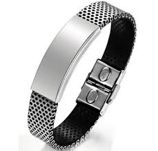 fashion stainless steel bracelet images China fashion stainless steel handmade genuine leather bracelet jpg