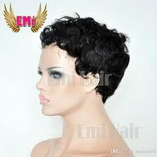 salt and pepper pixie cut human hair wigs cheap short human hair wig tight curly pixie cut wigs brazilian