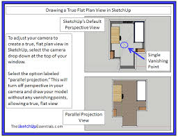 Floor Plan In Sketchup Basics Of The Navigation And View Tools In Sketchup The Sketchup