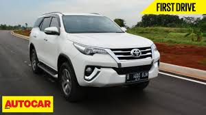 used lexus car for sale in india toyota fortuner first drive autocar india youtube