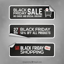 black friday banner black friday banner stickers vector premium download
