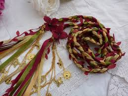 fasting cord fall fasting cord 12 strand burgundy gold gold charms and