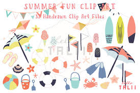 margarita time clipart hand drawn beach u0026 summer clipart illustrations creative market