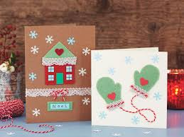 how to make a christmas card or by diy holiday cards with ribbons