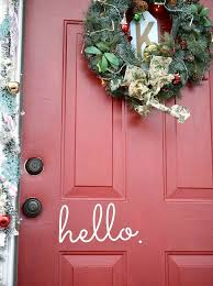 Christmas Decoration For Front Door by Festive Christmas Front Door