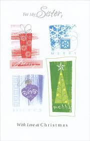 red blue purple u0026 green symbols sister christmas card by