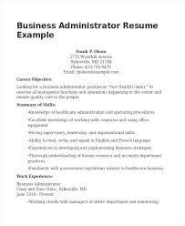 business administration resume skills best sample resumes images