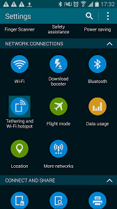 mobile hotspot for android how to set up your samsung galaxy s5 as a wi fi mobile hotspot