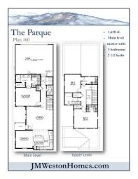 Townhome Floor Plan Designs Townhomes Jm Weston Homes