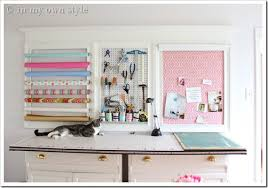 Craft Room Ideas On A Budget - how to add a crown molding to a craft room creative wall 5 in