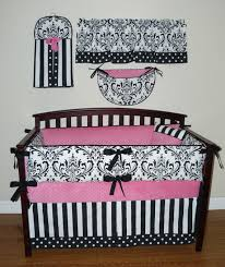 White Nursery Bedding Sets Sofia Baby Crib Bedding 5pc Set Pink White And Black