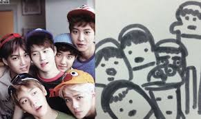 fan creates cute and hilarious doodles of exo on twitter