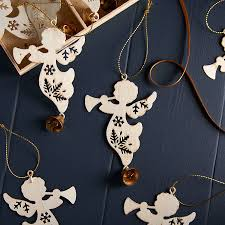 set of cream angel christmas tree decorations by the christmas