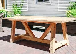 Free Plans For Outdoor Table by Perfect Plans For Patio Table And Diy Outdoor Table Free Plans