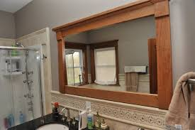 Custom Bathroom Mirror Mirrors Extraodinary Custom Size Framed Mirrors Custom Wood