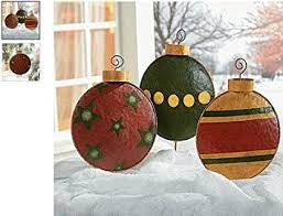 Giant Christmas Decorations Outdoor by Amazon Com Giant Christmas Tree Ornament Garden Decor Yard Stakes