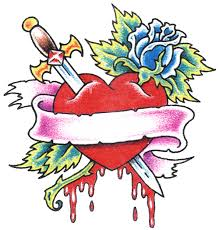 heart with rose tattoo clip art library