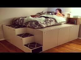 ikea bedframe hack dad transforms ikea kitchen cabinets into brilliant bedroom