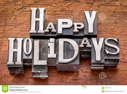 happy holidays in metal type stock image image 47297015