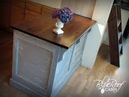 kitchen island brackets blue roof cabin kitchen island update
