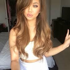 light caramel brown hair color follow along americanbellekel smooth waves hair styling
