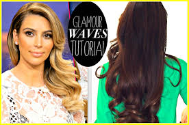 kim kardashian everyday old hollywood curls prom hairstyles