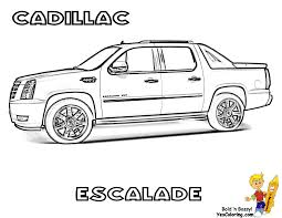 cadillac escalade suv coloring sheets to print at yescoloring com
