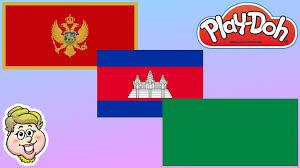 Libyas Flag Play Doh Flags Montenegro Cambodia And Libya Ewmj 254 Youtube