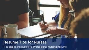resume tips for nurses